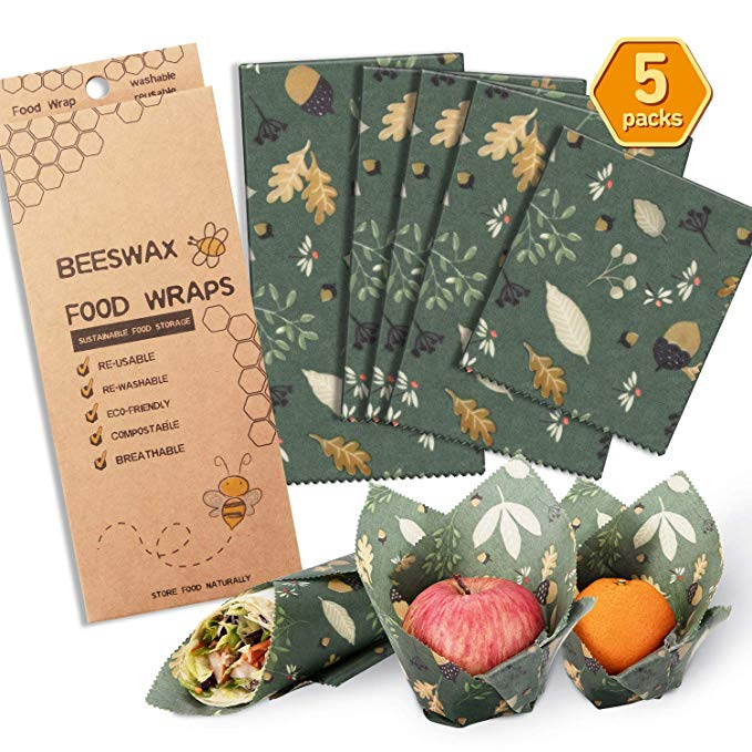 Kitchen Amazon hot selling organic reusable food storage beeswax wrap washable beeswax food wrap
