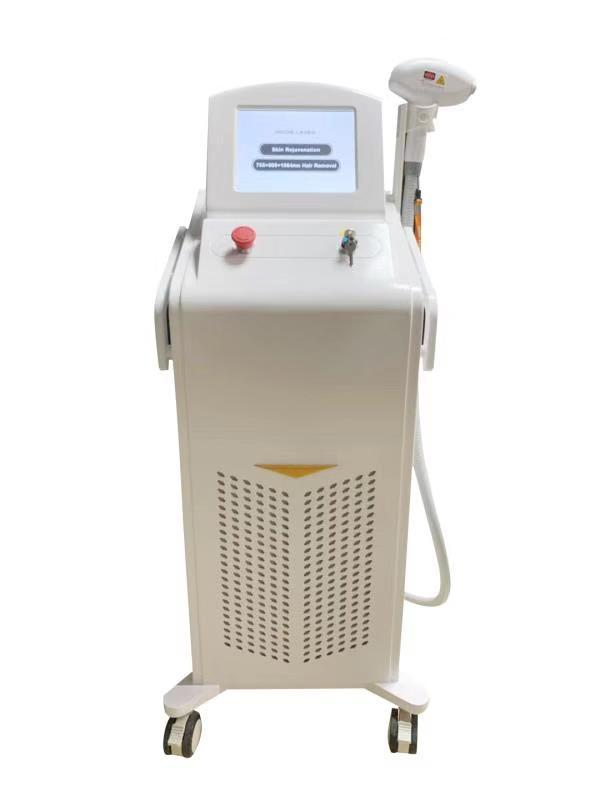 Nessuno Canale Triple lunghezze d'onda 808nm 755nm 1064nm diodo laser di rimozione dei capelli apparecchiatura di bellezza