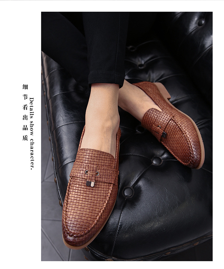 38-47 Men Fashion Business Shoes Formal Office Oxford Soft Leisure Dress Footwear Casual Flat Loafers Fashion Slip-on Moccasins