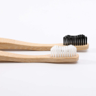 Black And White Mini Bamboo Toothbrush For Kids