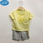Custom Summer Infant Clothes Cut Design 2pcs Baby Clothing Set Cotton Baby Girl Suits