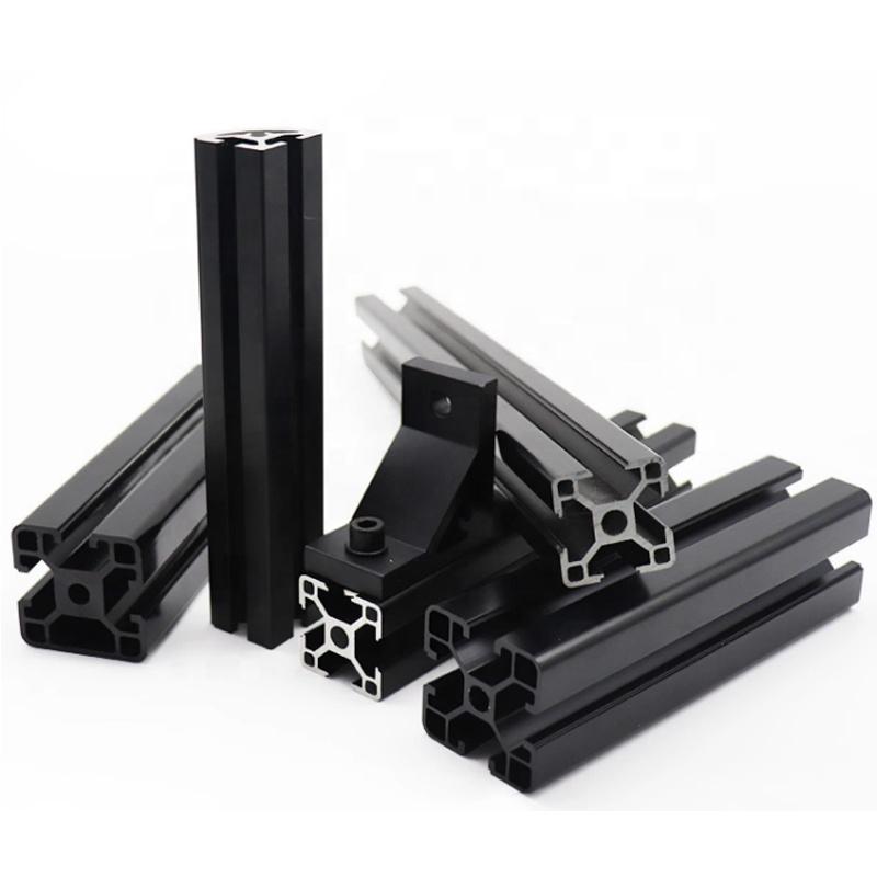 aluminum profile ection producting line,1 Meter, Silver,black,blue,customized