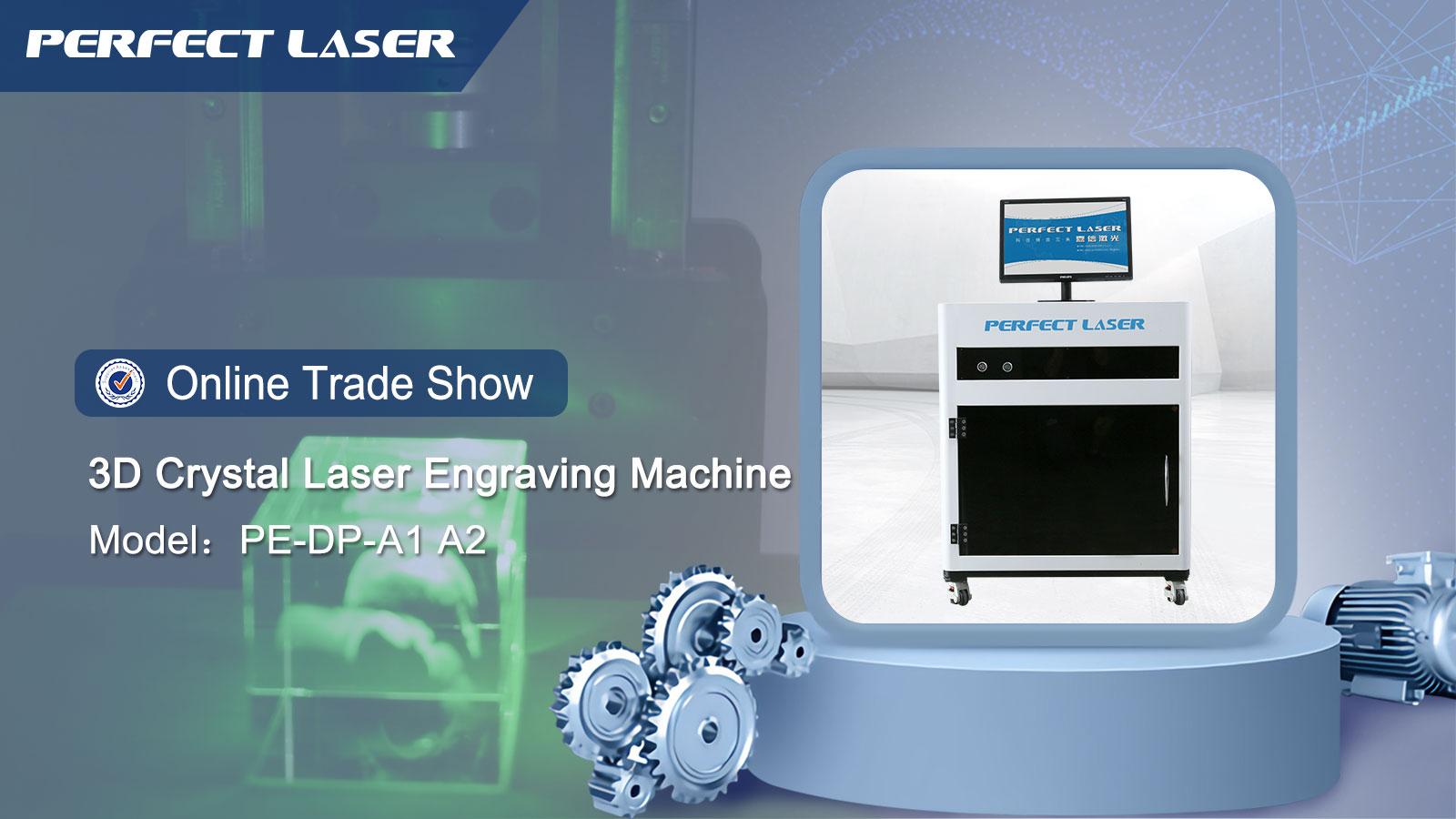 3D Besar Ukiran Area Di Dalam Kaca 3D Kristal Hadiah Laser Engraving Mesin