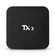 Android tv box lampeggiante firmware TX3 con display Dell'orologio fast ethernet 32gb 64gb di archiviazione