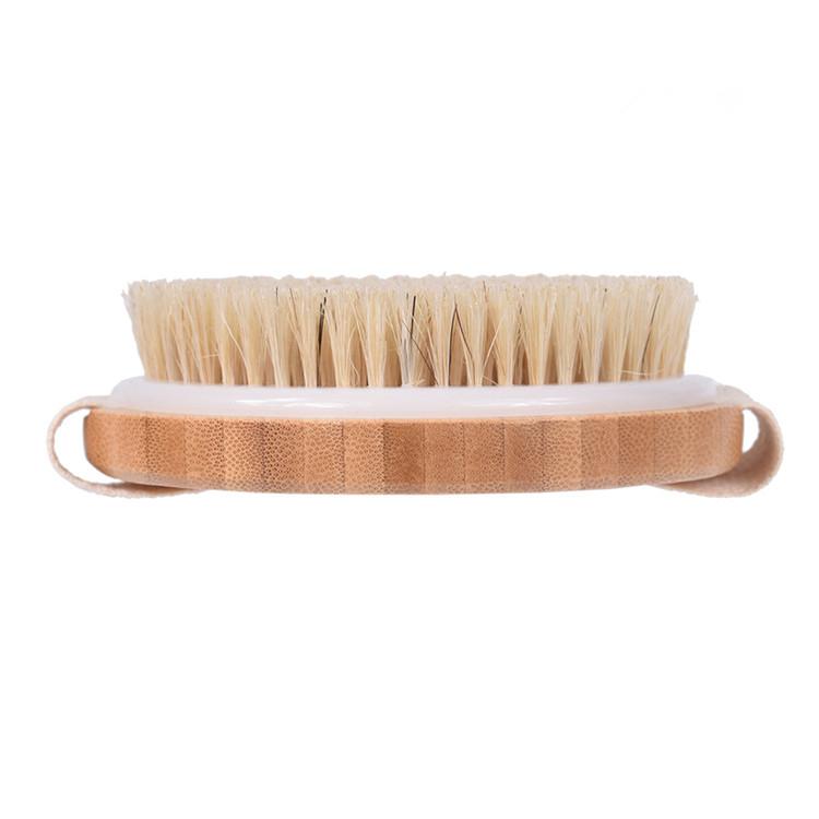 soft natural bamboo body boar bristle bath brush