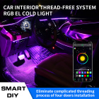 12V 5050 RGB mobile APP bluetooth car Decoration interior floor foot led Atmosphere Ambient flexible strip light