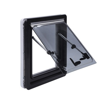 H10235 RV Double Glazed Acrylic Sliding Window with Block out Blind& Flyscreen Manual Adjustment for Variety of Opening Position