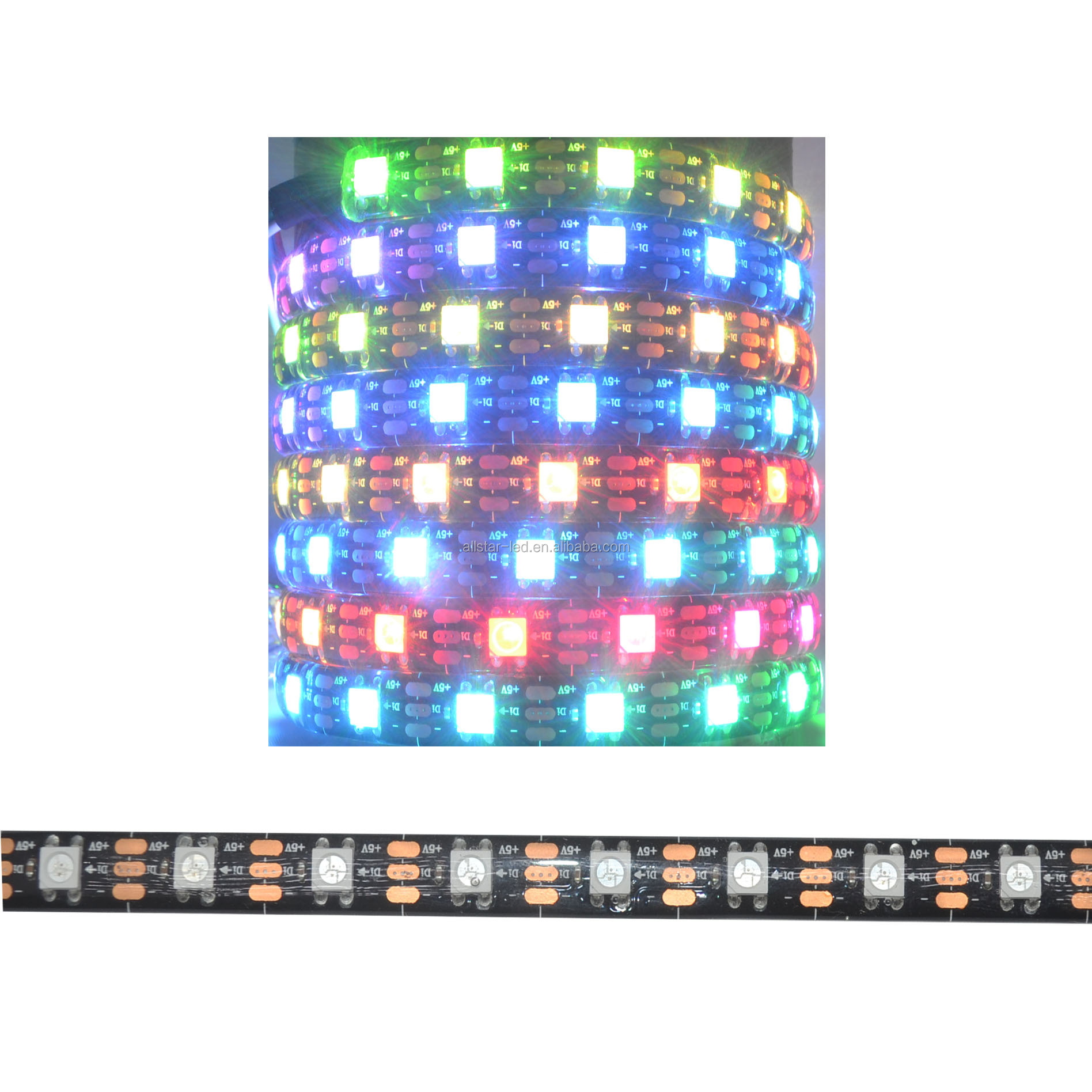 individually addressable waterproof ip65 ip67 5050 rgb 30 60 144 led/m 5v ws2811 ws2812 ws2812b led strip