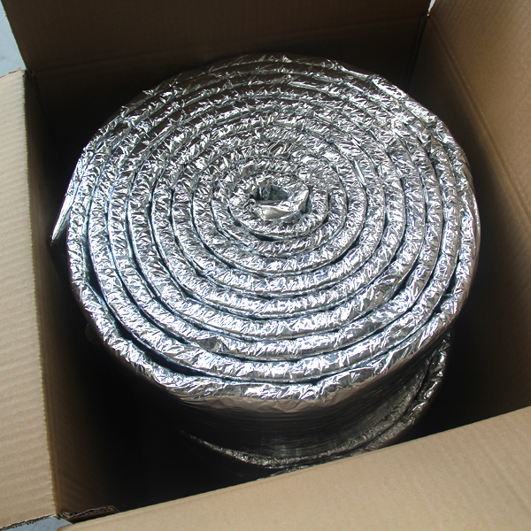 Thermal ceramic fiber blanket with all sides Al foil coated
