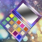 Make up organic 15 color eyeshadow palette OEM shimmer palette