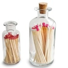 Hot sale Long Sticks Colored Tip Matches in Glass Bottle