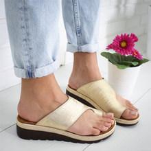 Женские шлепанцы; Женские леопардовые сандалии для коррекции; Ортопедические женские Вьетнамки; Женская обувь размера плюс; 2020(Китай)