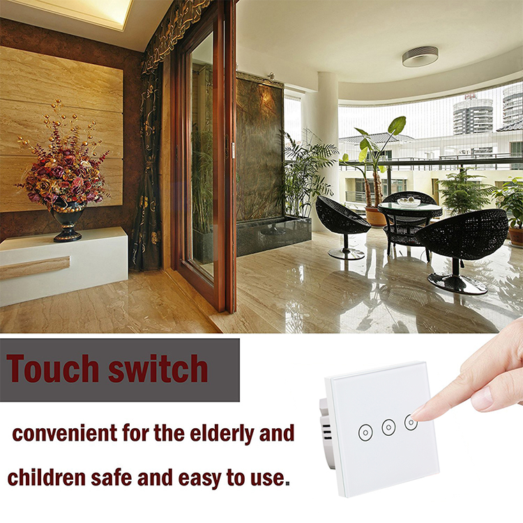 Interruptor Wifi Smart Switch OEM ODM Luz Indicadora 1 2 3 Switch Gang 433 RF Tuya Livre APP controlado 10A