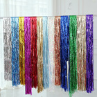 Bravo Eco Friendly Sequin Party Backdrop Metallic Tinsel Fabric Foil Fringe Curtains