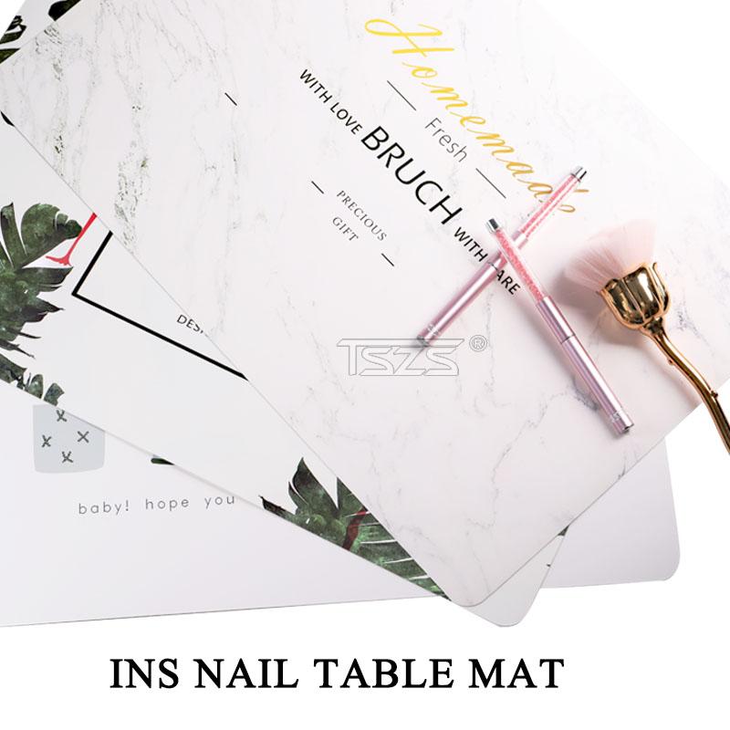 TSZS High Quality Foldable Waterproof Wholesale Table Mat Pad Professional Nail Salon Products Manicure Tools