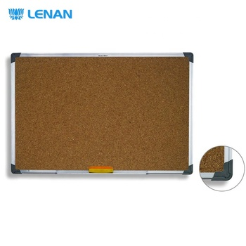 Customized classic hanging aluminium frame bulletin cork boards aluminum pin bulletin cork board notice board