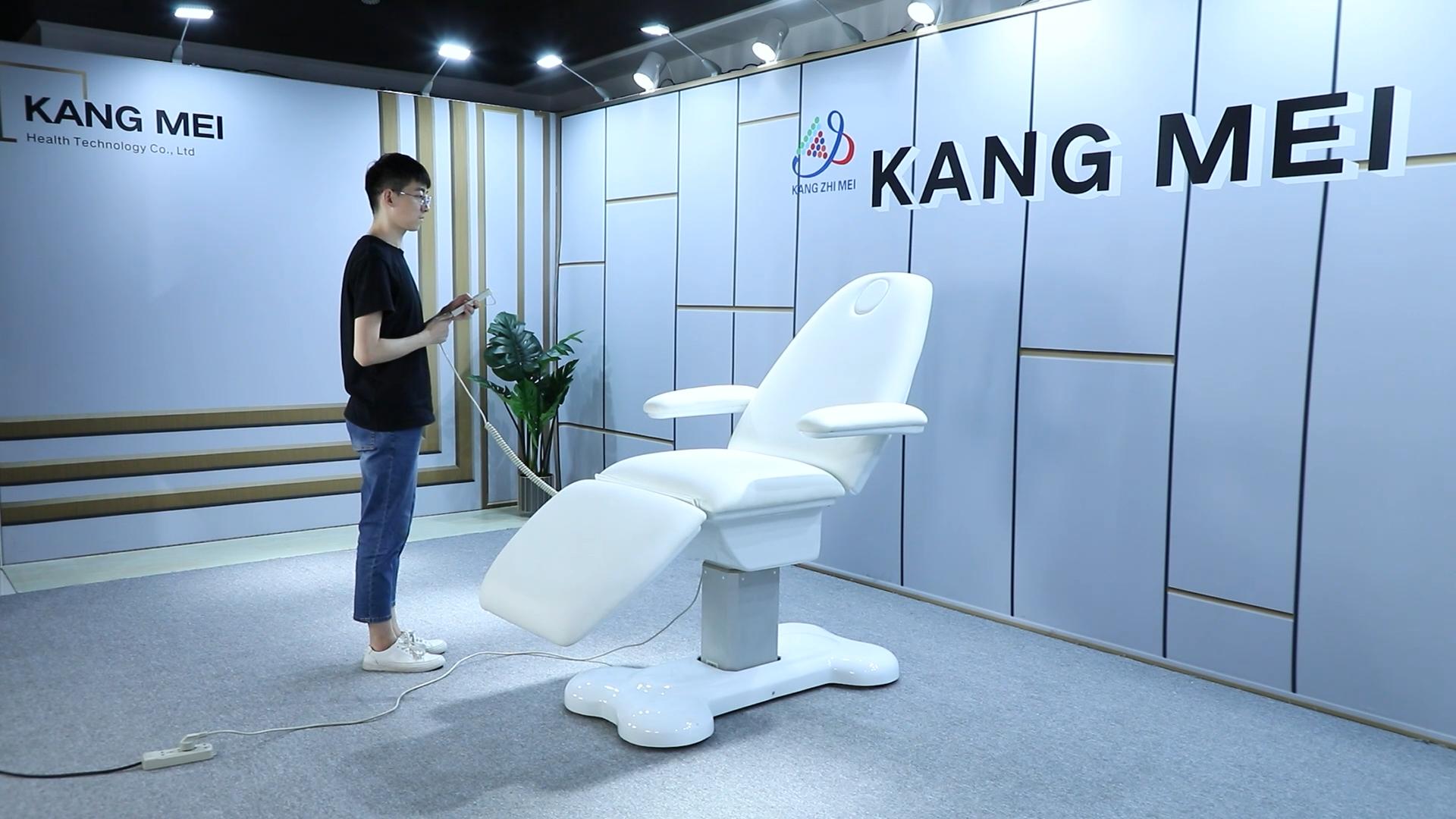 สีขาวโมเดิร์นหรูหรายุโรป 3 มอเตอร์Salonสปาไฟฟ้าปรับนวดความงามเตียงเครื่องสำอางเก้าอี้