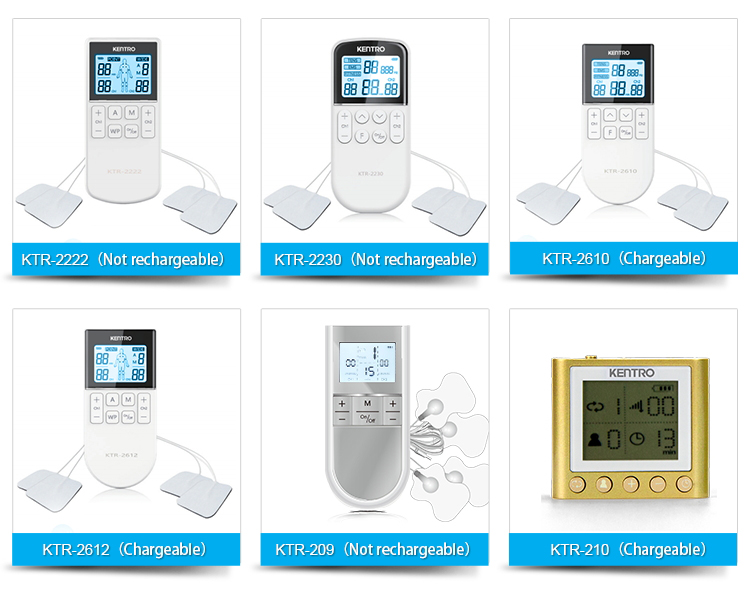 New Dual Output Electronic Pulse Tens Therapy Machine Ems Body Massager Health Care Product