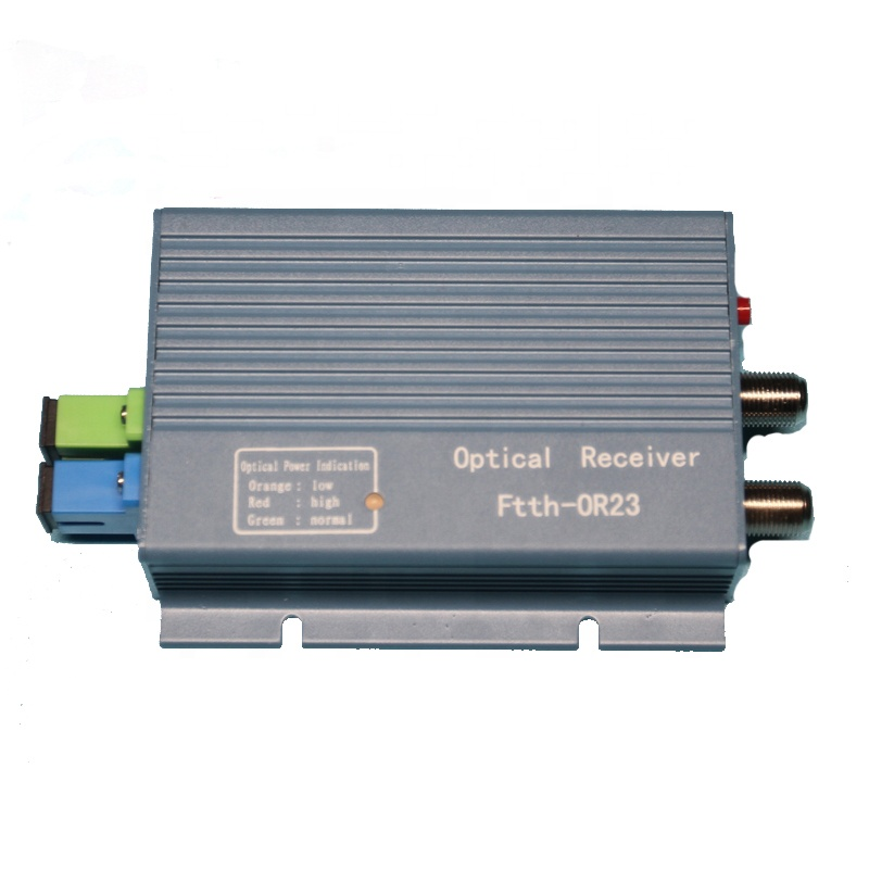 Ftth CATV optical receiver mini node with WDM with 2 output port 1550nm Fiber Optic equipment Receiver AGC micro ftth node
