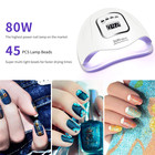 Uv Nail Lamp Uv Led Nail Lamp For Gel Nails UV LED Nail Lamp 80W Professional Nail Dryer For All Gels Fits Both Hands Or Feet With LED