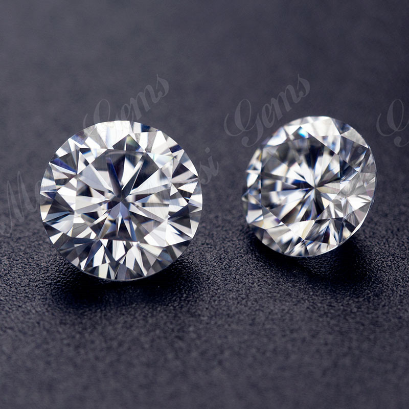 Messi Jewelry VVS DEF white round shape brilliant cut 7.5mm-9mm wholesale loose moissanite diamond