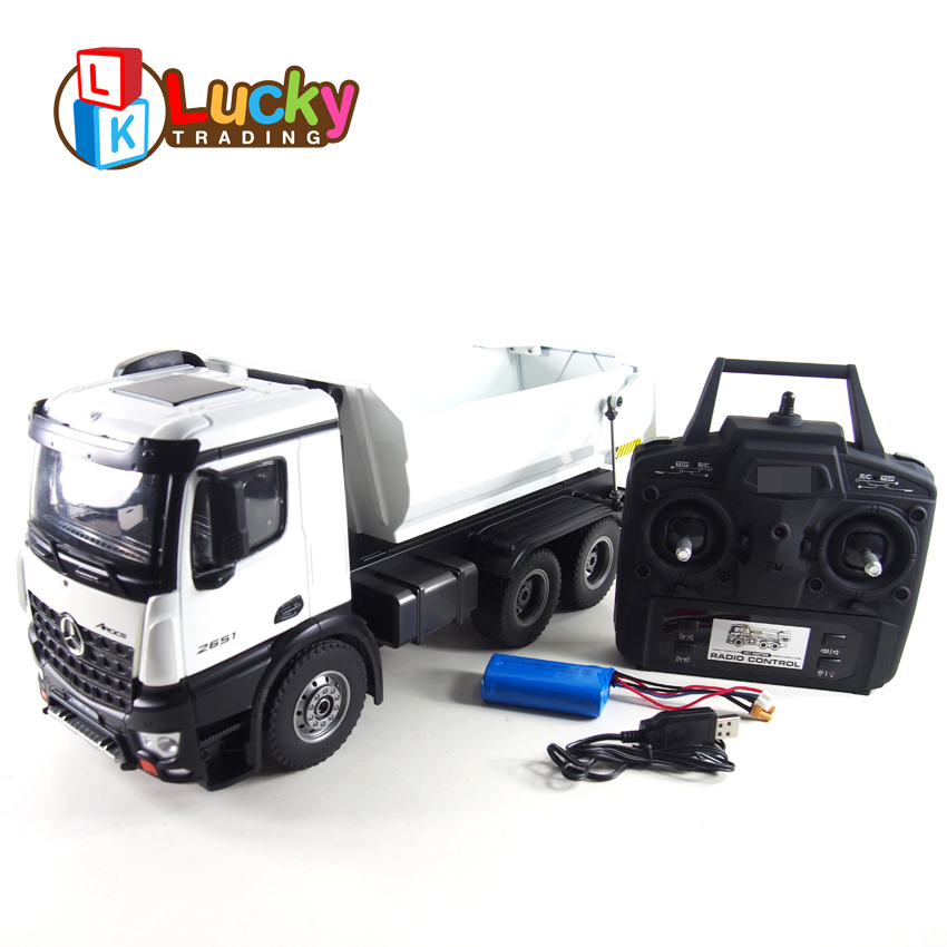 hot sale alloy remote toy radio controlled rc trucks dump with 6 wheels