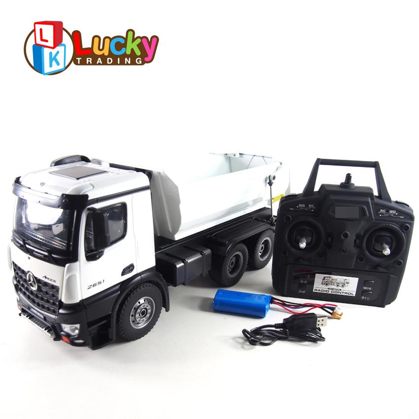 Offre Spéciale alliage télécommande jouet radiocommandée rc camions à benne basculante avec 6 roues