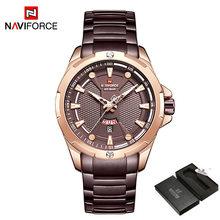 Часы NAVIFROCE мужские, стальные, деловые, водонепроницаемые, кварцевые(Китай)