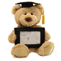 Wholesale customize sitting plush graduation teddy bear with gown