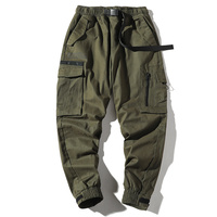 black and green quick dry cargo sweat pants