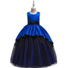 Детское платье принцессы, длинное черное платье из тюля для девочек 2020, платья для девочек на вечеринку и свадьбу, CHD20141(China)
