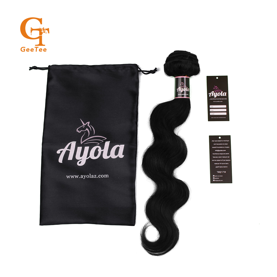 OEM Custom Private satin bags Labels Wraps Tags <strong>Logo</strong> Pack For Hair Extensions,Personal Business Name Hair Wraps For Bundles