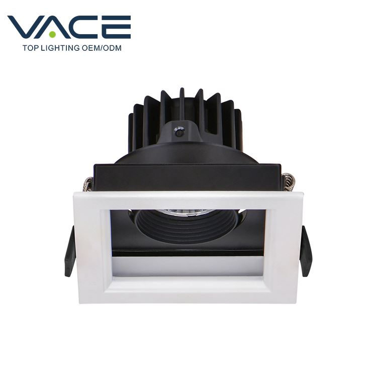 Factory Supplying Square Plastic Lamp Covers Flat Spot Light Led Ceiling Grilles Light