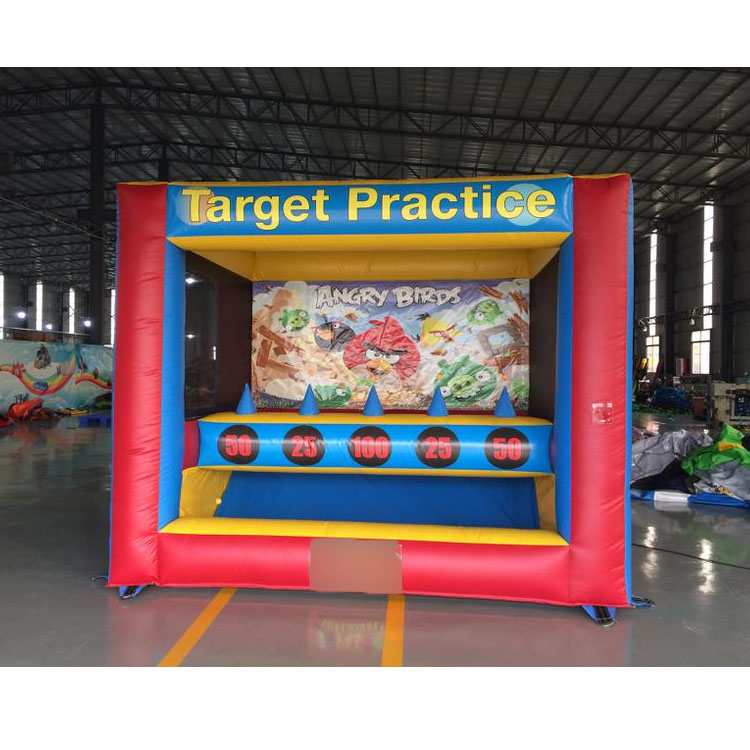 Outdoor fun inflatable archery target practice sport game with balls