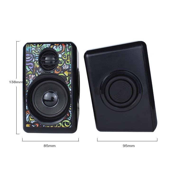 Kisonli portable usb camouflage laptop speaker