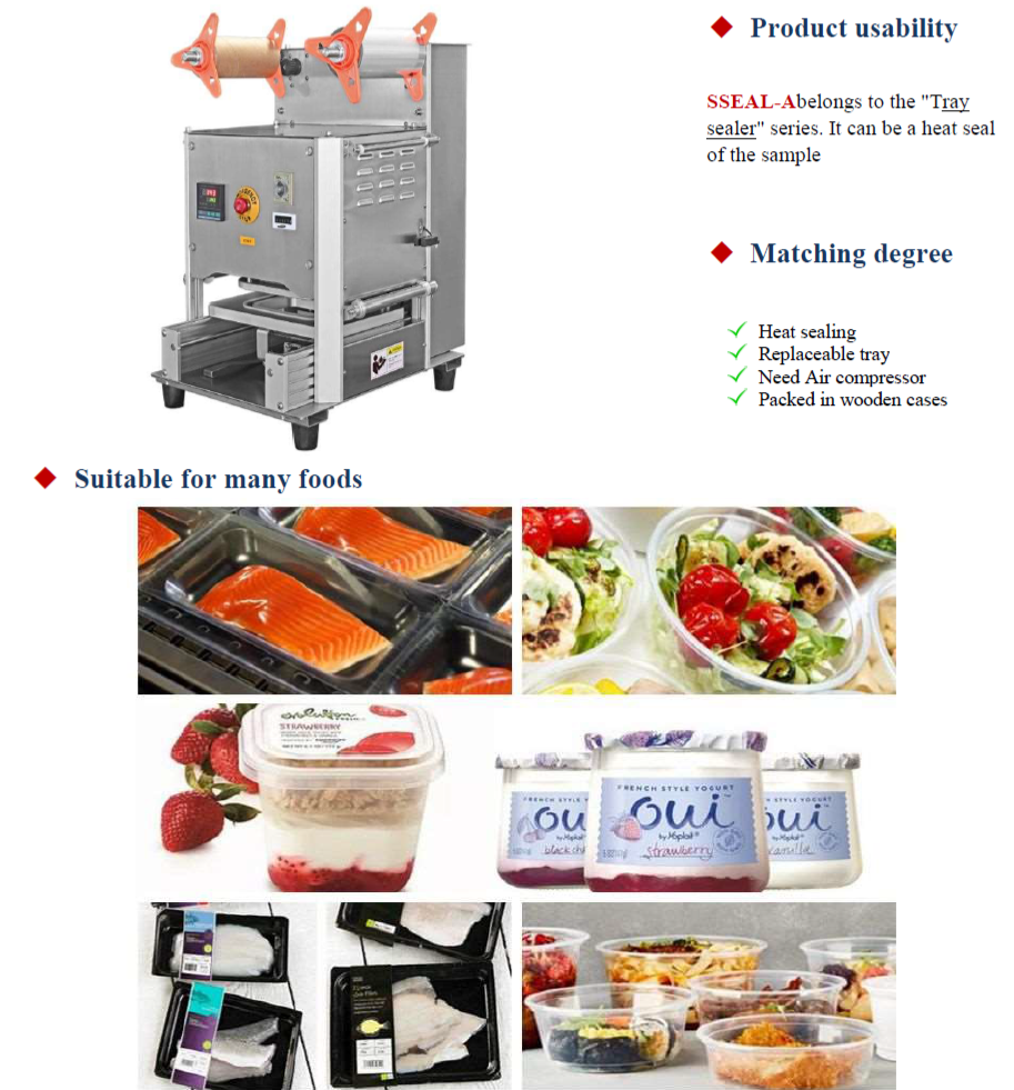 Automatic Lunch Box Food Tray Sealing Packing Machine/ Plastic Tray Sealer for Food