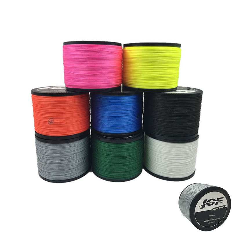 Amazon 4 Stands Weaves Super Strong Colorful JOF <strong>PE</strong> 1000m braided fishing line