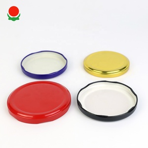 Round colorful lug cap jar lid for paint bucket