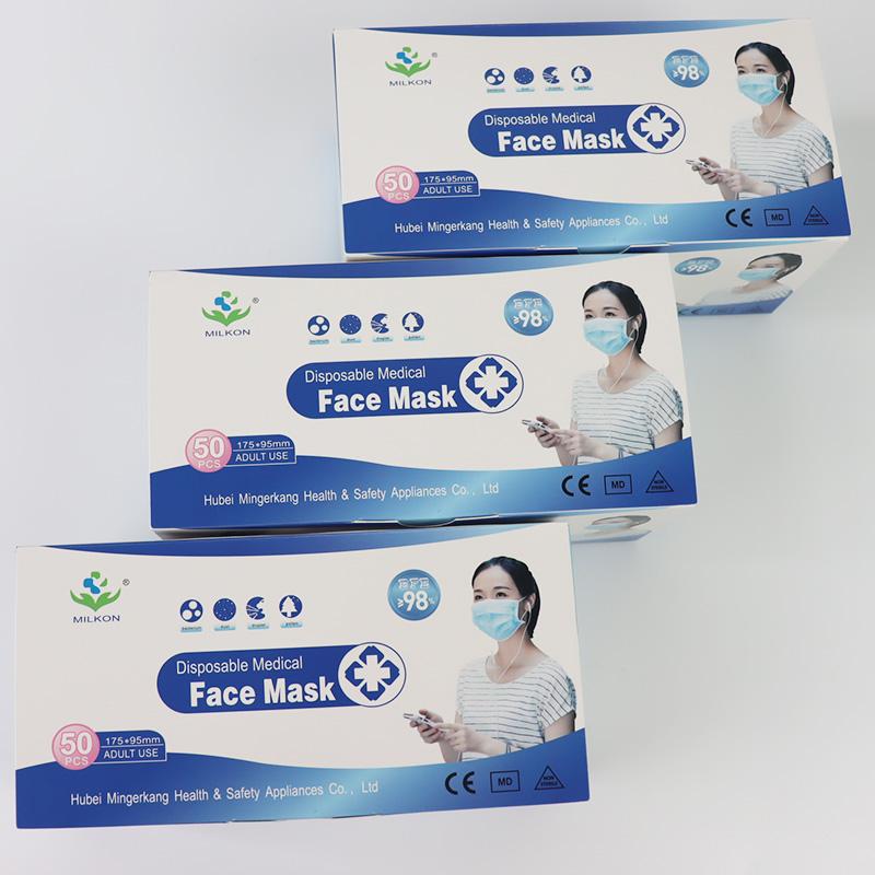 Disposable Non-woven 3ply Medical Face Mask