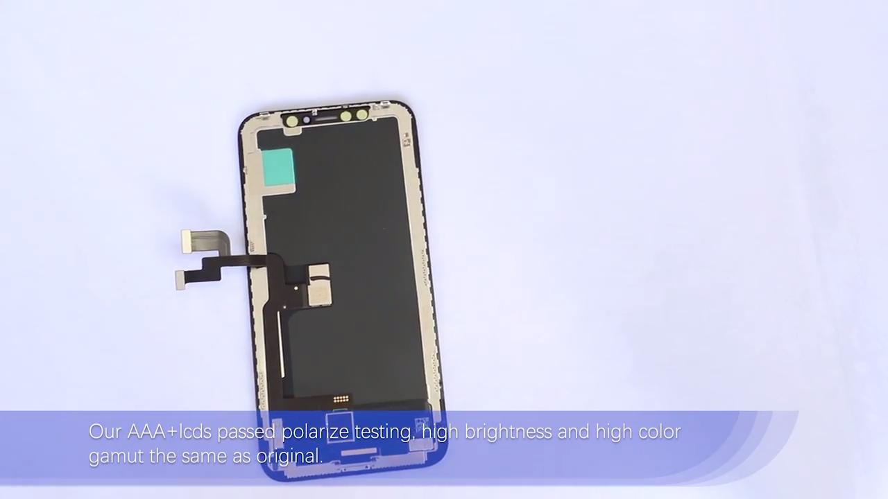 OEM Pabrik Terbaik Harga Touch Ecran untuk Iphone X Layar Pengganti Oem, grosir untuk Iphone X Lcd Perbaikan Spare Parts Sentuh