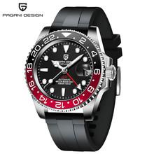 Часы PAGANI GMT с сапфировым стеклом, автоматические механические мужские часы 40 мм, 100 м водонепроницаемые мужские часы, мужские часы(Китай)