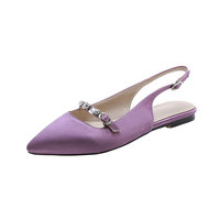Casual Shoes Slingback Pointed toe Flats Women Ballerina Shoes