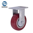 Heavy Duty 5 Inch Fixed Caster Wheel For Trolley Rigid Caster PVC Castor for Hand Cart