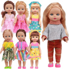 Soft Vinyl 18 inch 45cm Doll with Cloth Girls Toys Cloth Changing Pretend Game Companion Take Away Dolls IN STOCK
