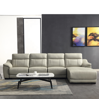 White L Shaped Leather Sofa Sectionals