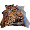 Classic lively cartoon children 100% polyester microfiber animal print bed sheets 3d kids soft bedding set