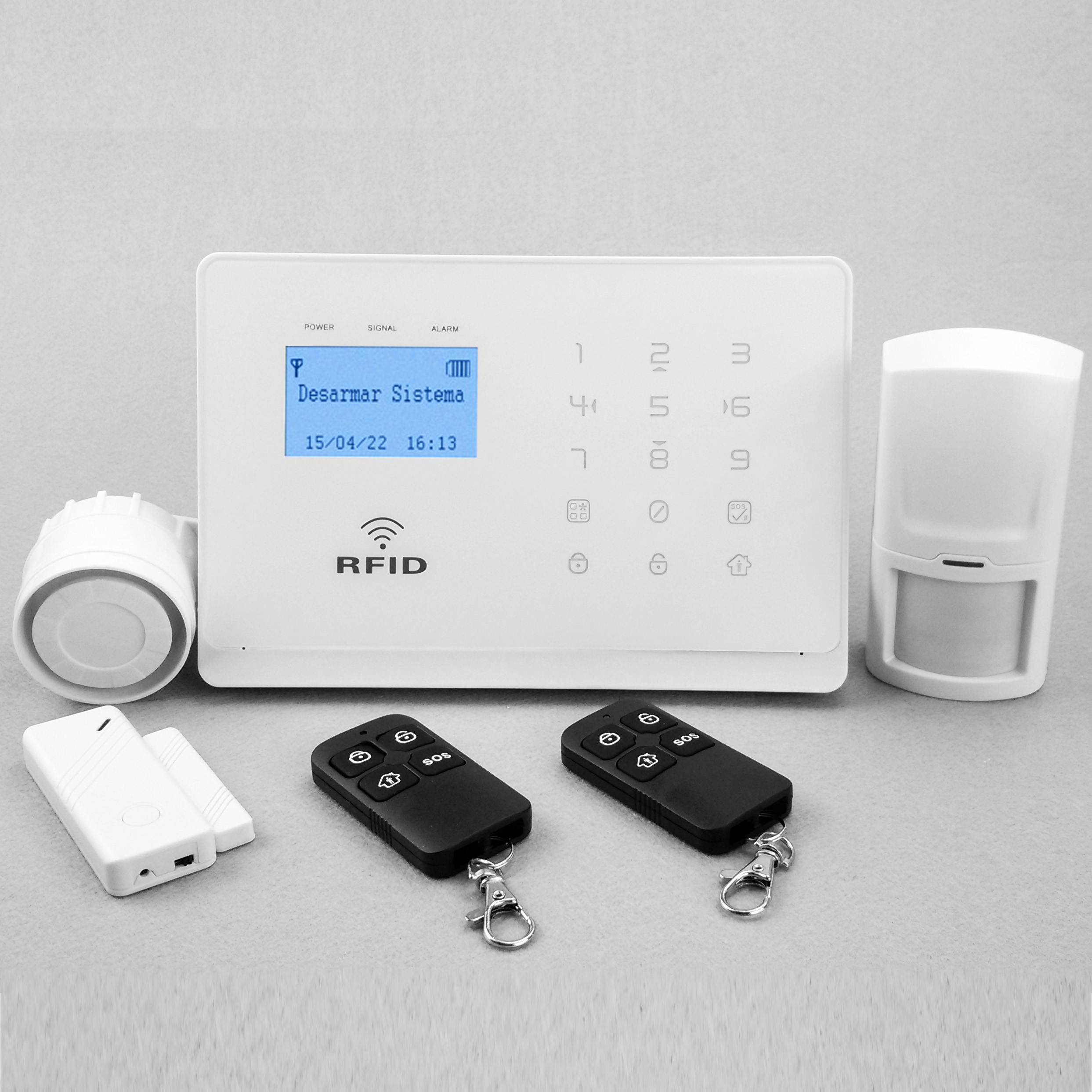 Smart gsm wireless home security alarm system