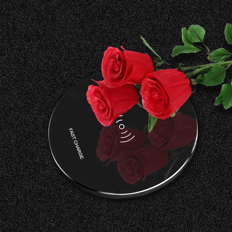 Induktif Magnetik Cepat Pengisian Pad Plate Qi Wireless Charger Ponsel