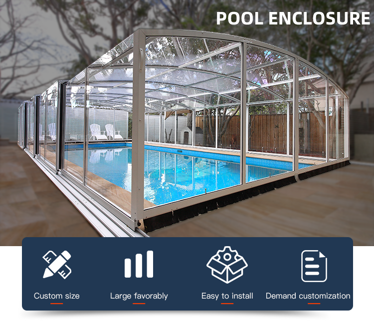 Glass Swimming Pool Enclosures Buy Glass Swimming Pool Enclosures Polycarbonate Swimming Pool Cover Swimming Pool Enclosure Product On Alibaba Com