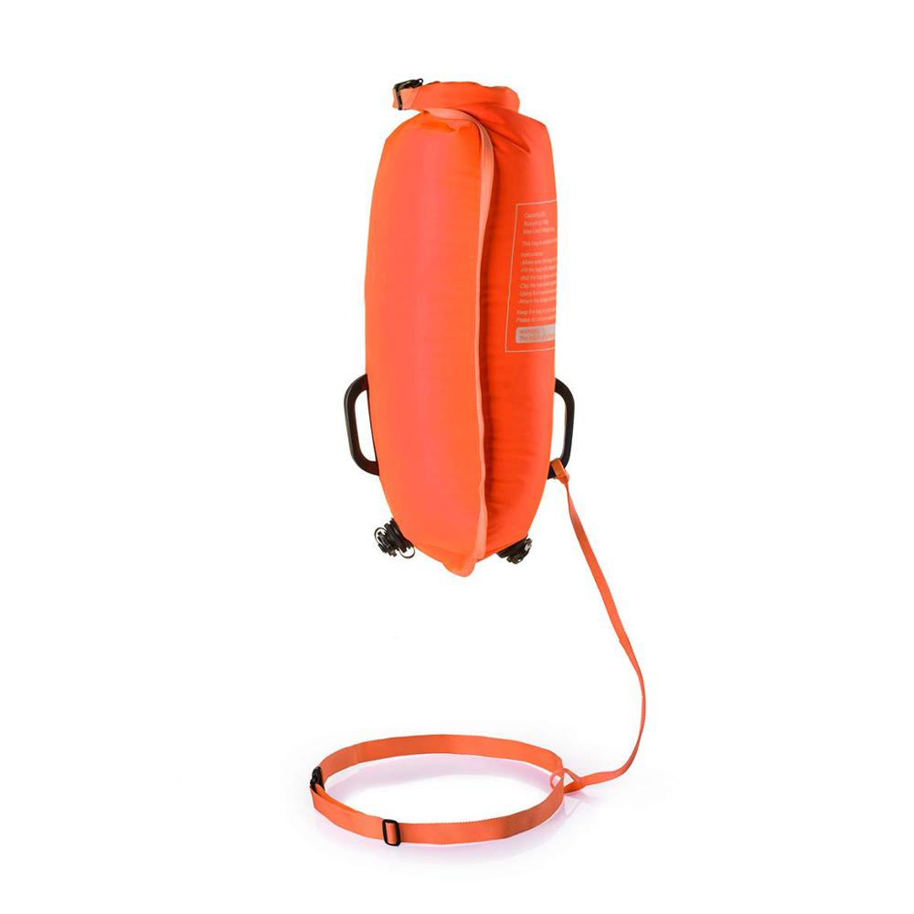 Outdoor Sail pull Inflatable floating dry bag,Open Water Floating buoy for swimming